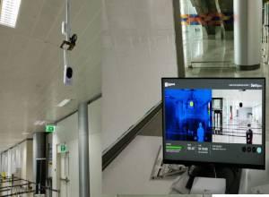 Mass fever screening system installed at Hyderabad International Airport