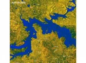Satellite images show improved water inflow at Srisailam reservoir and Medigadda barrage