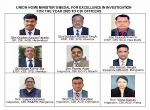 CBI officer from Hyderabad awarded Medal for Excellence in Investigation