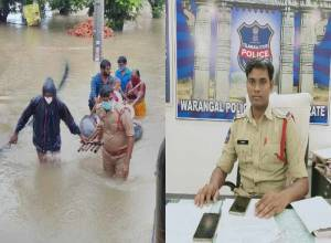 Warangal Cop T. Ganesh rescued stranded citizens during floods, wins praise