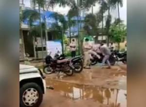 Police inspector suspended for kicking elderly dalit man in Srikakulam