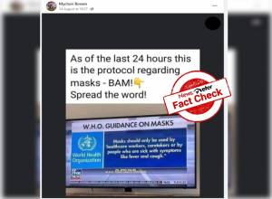 Fact Check: Outdated WHO guidelines on wearing face masks circulating on social media