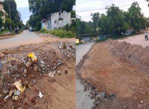 Prasanth Nagar residents oppose footpath being constructed by SCR in colony