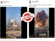 Fact Check: Is the massive blast in Beirut a nuclear explosion?