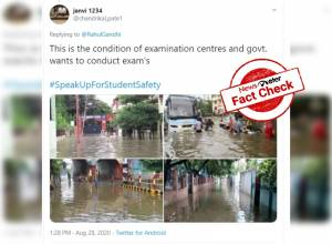 FACT CHECK: Old photos falsely passed off as flooded NEET/JEE exam centres