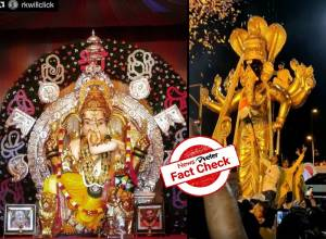 Fact Check: Viral video of Lord Ganesha misidentified as an idol made of 70kg gold and 350kg silver from Mumbai