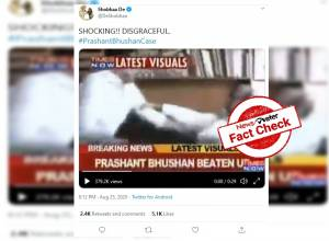Fact check: 2011 video of attack on Prashant Bhushan resurfaced in backdrop of his contempt case