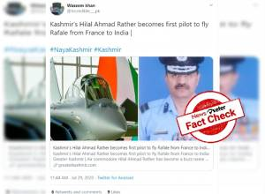 Fact Check: IAF pilot Hilal Ahmad Rather did NOT fly Rafale jet from France to India