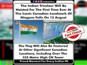 TRUE, Tricolour to be hoisted for first time at Niagara Falls to mark Indian Independence Day
