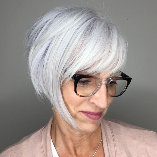 Edgy Pixie Bob With Front Bangs