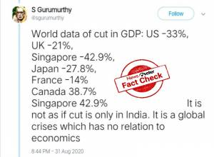 Fact Check: Viral claim that US economy has contracted more than India is false