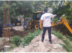 Kukatpally: EV&DM demolishes foundation laid on encroached open space