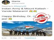 FACT CHECK: Viral picture claiming that army scaled Kailash Mansarovar is false