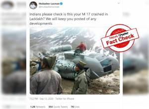 Fact check: Viral image of MI17 chopper crash is from Kedarnath, NOT Ladakh