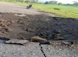 IED blast by Maoists damages 20-ft road in Kothagudem