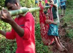 No ambulance, tribal woman carried in 'doli' for 8km in Vizianagaram