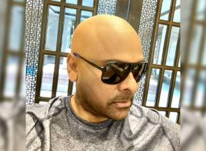 For a change, Chiru goes bald