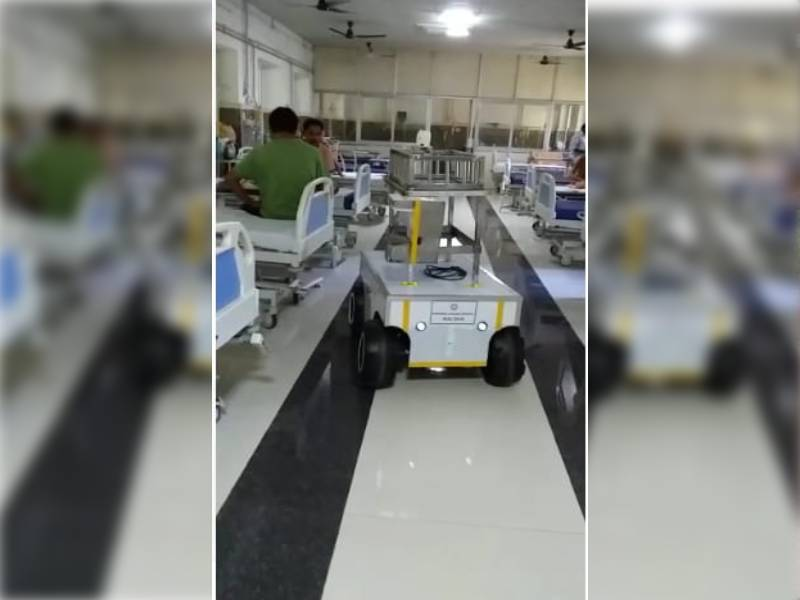 Robot developed to serve medicines and food for COVID patients