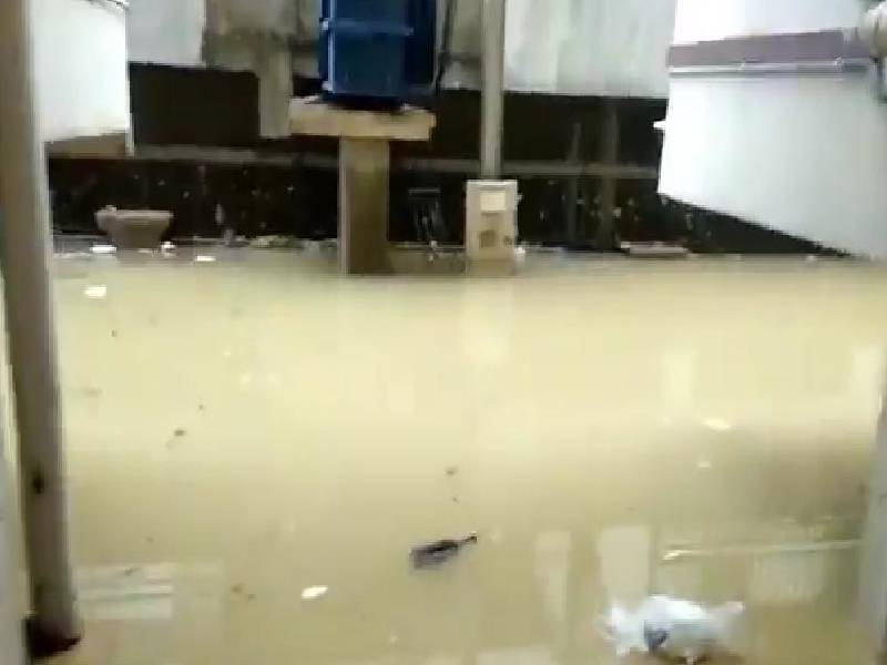 Water released into incomplete pipeline flood two apartments at Madinaguda