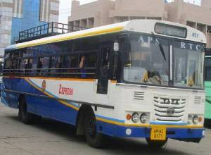 After a gap of 6 months, AP RTC buses hit roads in Vijayawada