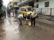 Floating leg of a woman in a drainage at Champapet scares locals