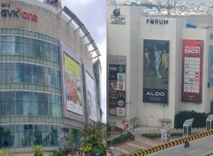 Illegal banner : Sujana Forum mall fined Rs 16.5 L, GVK One Rs 2L