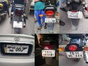 In Pictures: How traffic violators are hiding number plates in Hyderabad