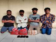 4 caught with ganja in Hyderabad