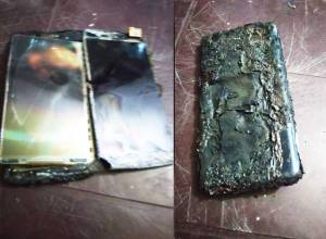 UoH student's phone explodes after online classes