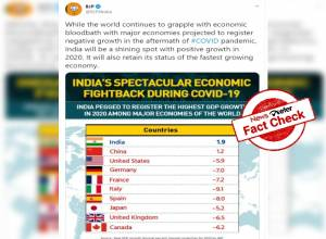 Fact Check: BJP's infographic showing India's 1.9% growth based on old IMF data