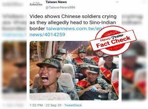 Fact Check: Video showing Chinese soldiers crying on their way to Indo-China border is FALSE