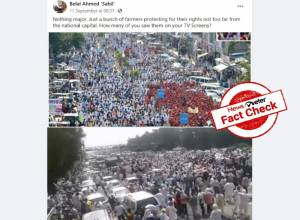 Fact Check: Photos from 2017 Rajasthan farmers' rally shared as recent farmers' protest in Haryana