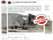Fact check: Four year old video of Chinese loudspeaker is not related to Ladakh standoff