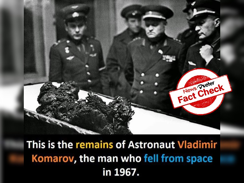 Fact Check: Picture showing charred body in an open coffin is indeed of Vladimir Komarov