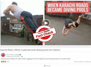 FACT CHECK: Viral video of man jumping into flood water is from Indore, not Pakistan