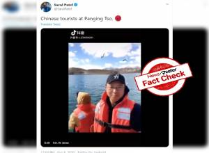 Fact Check: Video of Chinese tourists at Pangong Tso lake shared with misleading claims