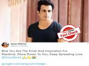 Fact Check: True, actor Sonu Sood wins UNDP's Special Humanitarian Action Award