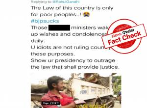 Fact Check: Viral video of rickshaw puller crying as his vehicle is seized is not from India