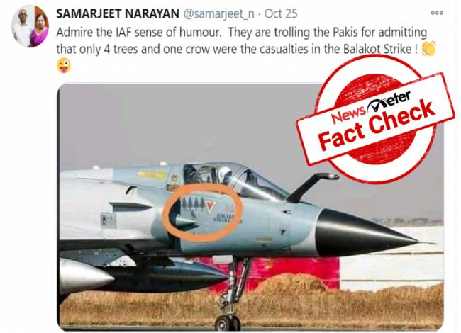 Fact Check: Morphed photo claims to show Indian Air Force mocking Pakistan