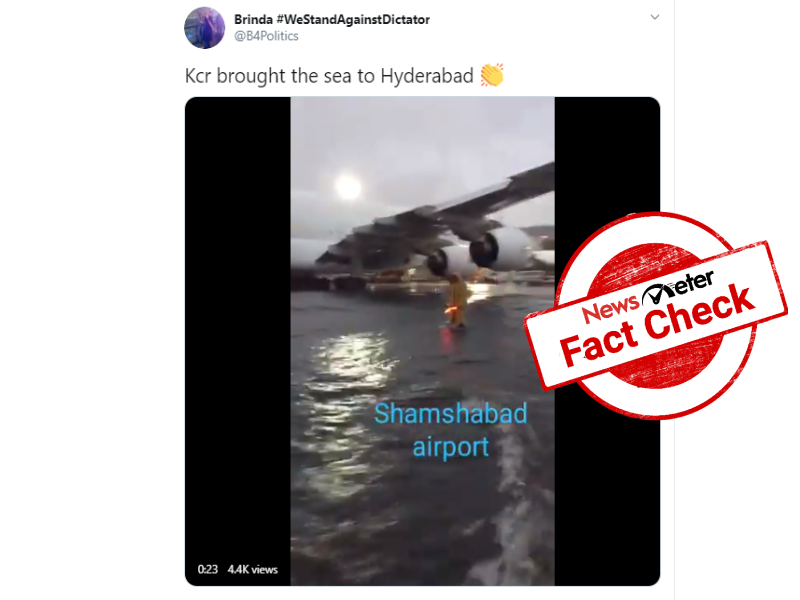 Fact Check: 3YO video of waterlogged in Mexico passed off as Hyderabad airport