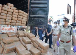 1,010 kg ganja seized on ORR, two persons arrested