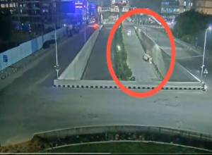 Inebriated couple ram car into wall of IKEA underpass bridge in Hyderabad