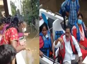 Video: TRS' Uppal MLA faces heat, residents accuse him of negligence