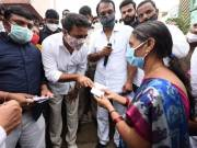 KTR distributes Rs. 10K each to flood-hit families in Hyderabad, visits inundated areas