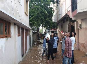 NGOs working for flood relief in Old City fight limited resources, restricted movement and COVID