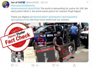 Fact check: Photo of Nigerian protests passed off as 'Justice for Sushant' march.