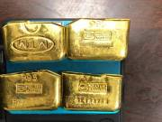 Custom officials seized Rs 70 lakh worth gold biscuits at Hyderabad International Airport