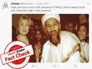 Fact Check: Image of Hilary Clinton meeting Osama Bin Laden is fake