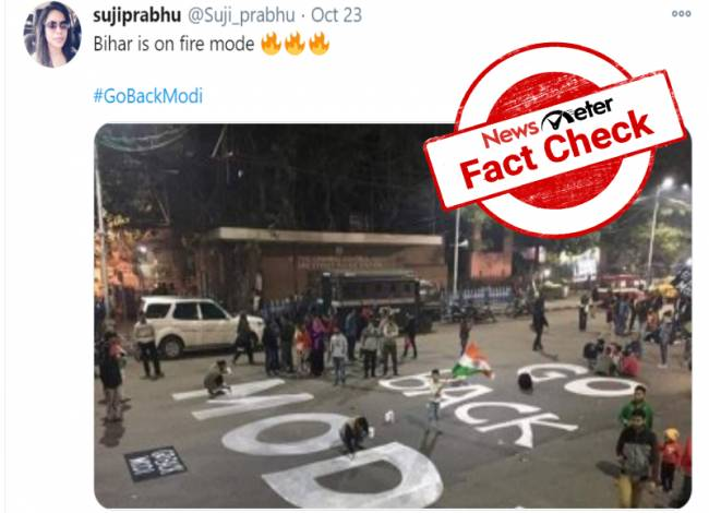 Fact Check: Old anti-CAA protest in Kolkata passed off as anti- Modi wave in Bihar.