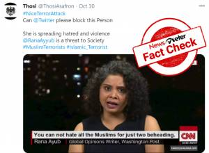 Factcheck: Morphed screengrab of Rana Ayyub's CNN interview shared with false claim